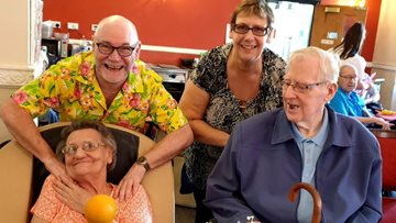Childhood sweethearts celebrate 60 years of marriage at Salford care home