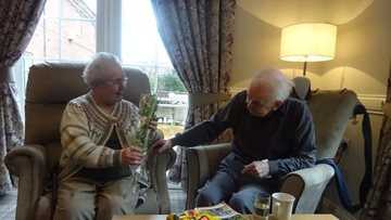 Love is in the air at Spennymoor care home
