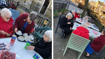 Airedale Residents enjoy picnic in winter sunshine
