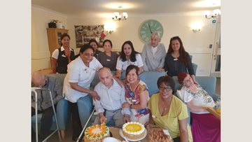 Birthday celebrations for Hounslow care home Resident