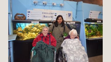 Hayes care home Residents enjoy trip to local farm
