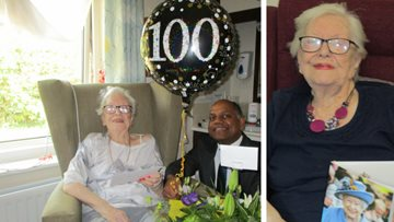 Centenarian celebrates birthday at Chelmsford care home