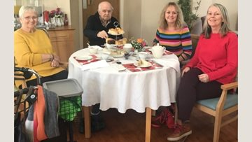 Vintage afternoon tea goes down a treat at Llys Newydd