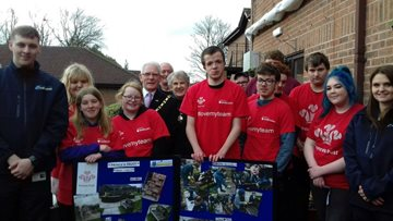 Hollymere welcome Mayor and Mayoress to opening of new Sensory Garden
