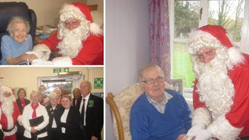 Residents at Altham Court enjoy Christmas visit from Santa