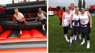Kingswood care home staff fundraise for Resident's holiday as they complete Hull's Inflatable 5K