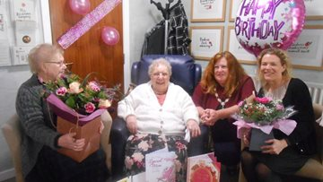 Resident celebrates 101st birthday at Warrington care home