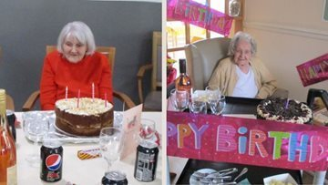 Double birthday parties at Seabrooke Manor care home