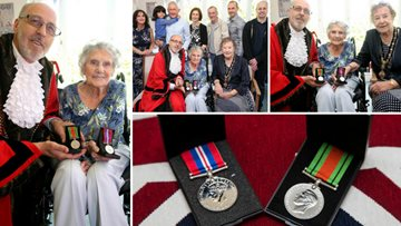 Resident recognised for her honour and bravery during World War II