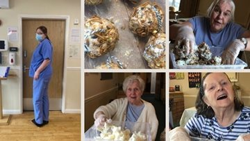 Colleagues launch club and bird seed activity news from April Park care home