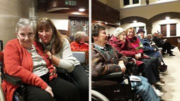 Bishop Auckland care home attends Remembrance band performance at local chu