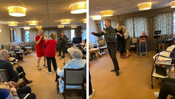 Holmfirth care home is alive with the sound of music