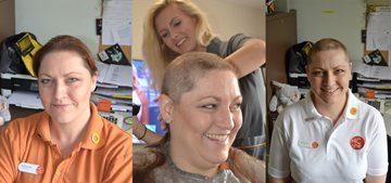 Brave HC-One colleague shaves head for charity