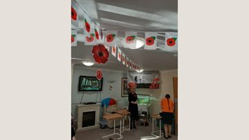Remembrance service at Waterside care home