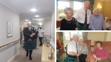 Greenways Court enjoys traditional Burns Night celebrations