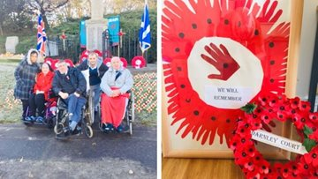 Glasgow care home remembers fallen heroes on Remembrance Day