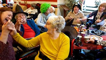 Fangtastic Halloween celebrations at Salford care home