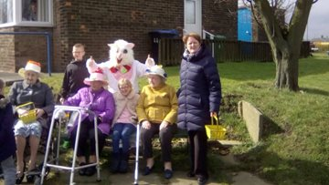 The Easter bunny lends a hand at Lothian House