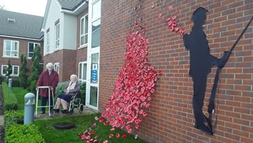 Newton Aycliffe care home remembers war heroes with Armistice display