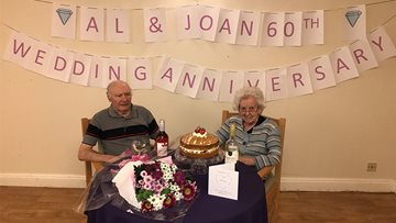 Highfield Care Home Couple Celebrates  Diamond Wedding Anniversary