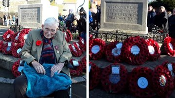 Beeston care home Residents mark Remembrance Day