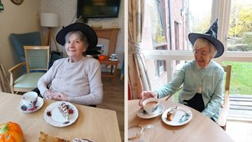 Residents enjoy a Halloween tea party at Glenrothes care home