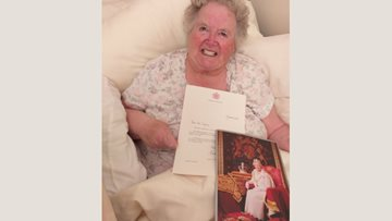 Burntwood care home Resident receives letter from the Queen