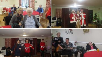 Residents at Alloa care home count down the days to Christmas with fun activities