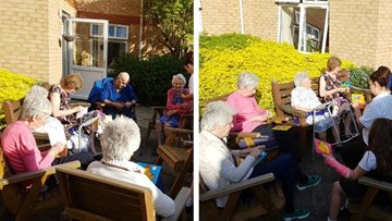 Dunstable care home Residents get sewing