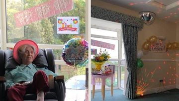 'The best birthday' Warrens Hall Resident Jessie has ever had!