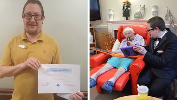 Dartford care home celebrate their Employee of the Month
