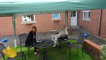 Spennymoor care home welcomes back visitors