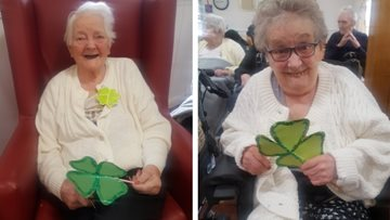 St Patrick's Day party at Glasgow care home