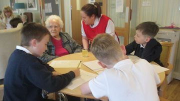 Intergenerational fun at Perth care home