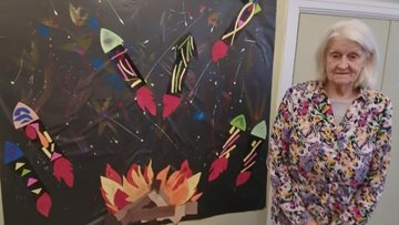 Arts and crafts brighten up Residents' day at Averill House