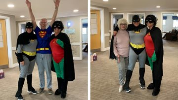 Smashing superhero day at Durham care home