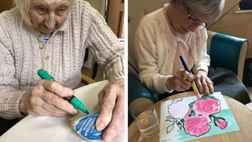 Dukinfield care home Residents get creative