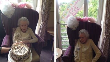 Centenarian celebrates birthday at Edinburgh care home