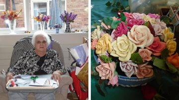 Crafty Residents teaches new skill at Upwood care