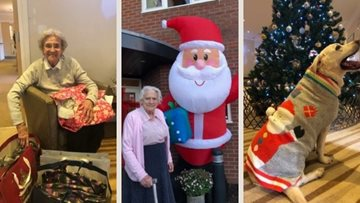 Christmas Day at Newcastle care home
