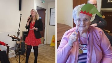 Hamilton care home welcomes singing sensation to Christmas Party