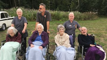 Burntwood care home Residents visit local garden centre