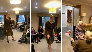 1940s entertainment hits the right note at Huddersfield care home