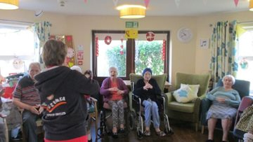 Mountain Ash care home Residents move to the beat at armchair Zumba