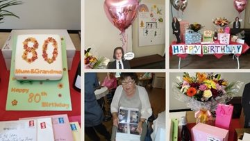 Special 80th birthday makes Resident's day