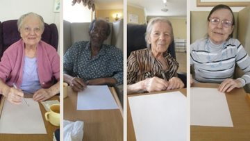Romford care home's family and Residents pen pal session