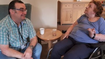 Keith and Jemima A coronavirus befriending at Glenrothes care home
