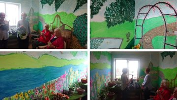 Huddersfield care home unveils new indoor garden ready for summer