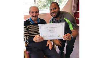 Weekly exercise class encourages independence for Residents at local care home