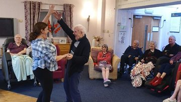Talented singer hits the right note at Hyde care home